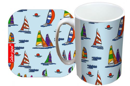 Selina-Jayne Sailing Limited Edition Designer Mug and Coaster Set